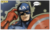 Cartoon: Captain America (small) by subbird tagged captain,america,downgrade,kreditwürdigkeit,credit,rating