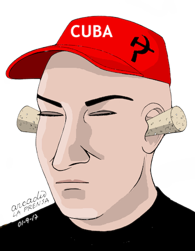 Cartoon: Cuba-the deaf government. (medium) by Cartoonarcadio tagged cuba,socialism,castro,dictatorship
