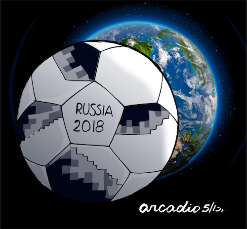 Cartoon: The World Cup eclipses our plane (medium) by Cartoonarcadio tagged football,soccer,russia,national,teams,sport,celebration