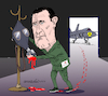 Cartoon: Al Assad and chemical weapons. (small) by Cartoonarcadio tagged syria,al,assad,war,asia,middle,east