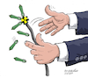 Cartoon: Between peace and war. (small) by Cartoonarcadio tagged dialogue,peace,war,conflicts