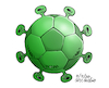 Cartoon: Coronafootball. (small) by Cartoonarcadio tagged coronavirus,pnademic,football,sports