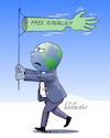 Cartoon: Free Navalny (small) by Cartoonarcadio tagged navalny,moscow,russia,putin,europe,dictator,freedom