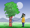 Cartoon: Fresh Air. (small) by Cartoonarcadio tagged earth,planet,trees,air,pollution