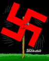 Cartoon: Nazi movement again. (small) by Cartoonarcadio tagged nazi,conflict,racism,supremacy,trump,world