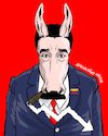 Cartoon: Political donkey. (small) by Cartoonarcadio tagged dictatorships,socialism,extremism