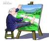 Cartoon: Self Painting. (small) by Cartoonarcadio tagged humor,cartoon,drawing