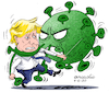 Cartoon: The big battle of Boris. (small) by Cartoonarcadio tagged boris,coronavirus,covid,19,england