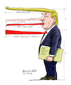 Cartoon: The defects of Trump (small) by Cartoonarcadio tagged trump,wadhington,white,house,personality