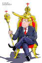 Cartoon: The King Trump. (small) by Cartoonarcadio tagged trump,relection,us,president,political,campaign
