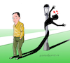 Cartoon: The shadow is falling in love. (small) by Cartoonarcadio tagged humor,park,comic,love,nature