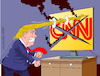 Cartoon: Trump hates CNN (small) by Cartoonarcadio tagged trump,usa,us,president,government,press,freedom
