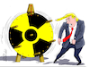 Cartoon: Trump turns the unfortune wheel. (small) by Cartoonarcadio tagged nuclear,power,iran,north,kora,usa,us,presidnt