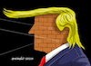 Cartoon: Trump...The impenetrable wall. (small) by Cartoonarcadio tagged russia,usa,us,president,russian,conspiracy