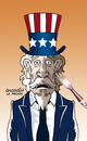 Cartoon: Uncle Sam suffers miscegenation. (small) by Cartoonarcadio tagged usa,minorities,miscegenation,whites,latinos