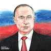 Cartoon: Vladimir Putin portrait. (small) by Cartoonarcadio tagged putin,russia,europe,moscow,kremlin,politician