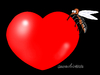 Cartoon: Zika menaces to love. (small) by Cartoonarcadio tagged zika,illness,health,africa,america,europe