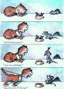 Cartoon: Sovereign (small) by Lv Guo-hong tagged cats,rats,fish
