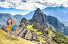 Cartoon: Shannon and Brian at Machu Pichu (small) by Harbord tagged machu,pichu,caricature