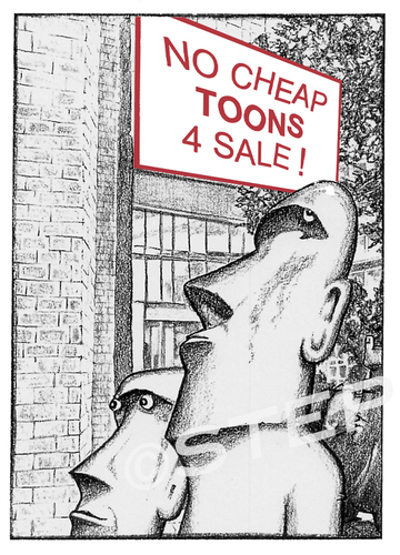 Cartoon: No cheap toons for sale (medium) by step tagged ramsch,ausverkauf,billigbilder,billigtoons,cheaptoons