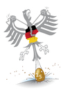 Cartoon: Deutsches Gelege (small) by toonwolf tagged einheit,deutschland,25,jahre,jubiläum,politik,unity,germany,anniversary,years,politics