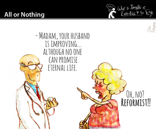 Cartoon: All or Nothing (medium) by PETRE tagged extreme,changes