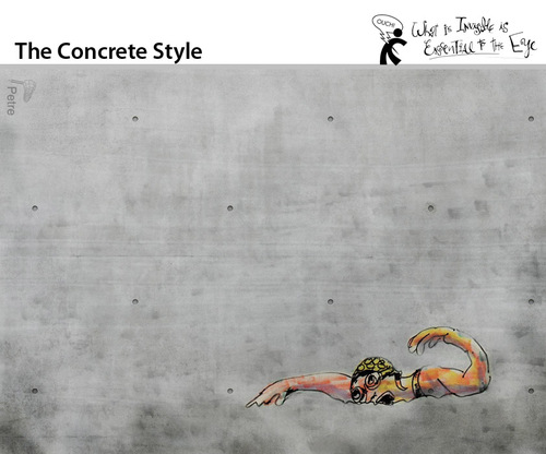 Cartoon: The Concrete Style (medium) by PETRE tagged swimming,reality