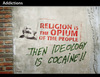 Cartoon: Addictions (small) by PETRE tagged marxism,political,graffitti,stencil,ideology,drugs