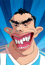 Cartoon: Carlos Tevez (small) by PETRE tagged football,players,caricature