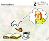 Cartoon: Homesickness (small) by PETRE tagged thoughts,visions,readers