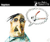 Cartoon: Imprison (small) by PETRE tagged language speech chain prison