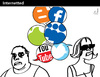 Cartoon: Internetted (small) by PETRE tagged web social network