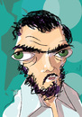 Cartoon: Julio Cortazar (small) by PETRE tagged writer,argentina,literature