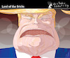 Cartoon: Lord of the Bricks (small) by PETRE tagged usa trump wall border