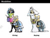 Cartoon: Modalities (small) by PETRE tagged bride,sex,money,marriage