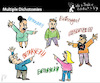 Cartoon: Multiple Dichotomies (small) by PETRE tagged discussions betrayal fights confussion