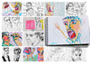 Cartoon: October sketches (small) by PETRE tagged people,sketches,colour,drawings