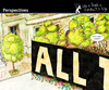 Cartoon: Perspectives (small) by PETRE tagged crowd people manifestation politics