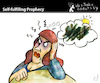 Cartoon: Self fullfilling Prophecy (small) by PETRE tagged prophecy,pesimism,toughts,future