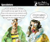 Cartoon: Speculations (small) by PETRE tagged speculations reflections mirror