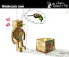 Cartoon: Whole Lotta Love (small) by PETRE tagged love wood wish lust