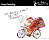 Cartoon: Xmas Flexibility (small) by PETRE tagged christmas noel santa santaclaus flexibility