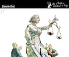 Cartoon: Zoom Out (small) by PETRE tagged justice,corruption,blindness,political
