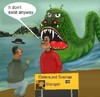 Cartoon: The storsjöcreature. (small) by Hezz tagged creatures