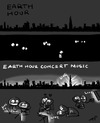 Cartoon: Earth Hour (small) by zenchip tagged earth,hour,concert,music,fun,zenchip