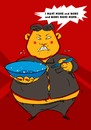 Cartoon: Im too hungry (small) by zenchip tagged food,kimjongul,northkorea,zenchip