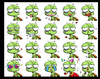 Cartoon: the emotions of green turtle (small) by zenchip tagged funny avatar emotions green turtle