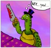 Cartoon: Magic Trick (small) by andriesdevries tagged magic trick magician illusionist turtle