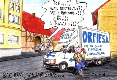 Cartoon: Boykott (medium) by Matthias Stehr tagged bochum,nokia