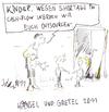 Cartoon: Hänsel und Gretel 2011 (small) by Matthias Stehr tagged kinderarmut,politik,children,poverty,europe